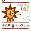 Namensbild zur Geburt – Sternzeichen Löwe – Mädchen